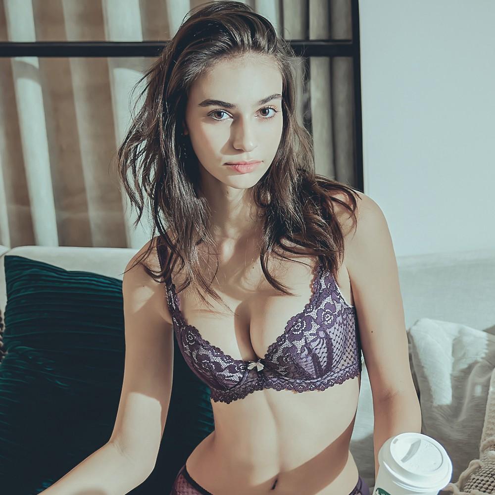 女神弧線 3D美胸力挺內衣 B-E Anymore,單件內衣,月牙片,蕾絲,大罩杯,超集中