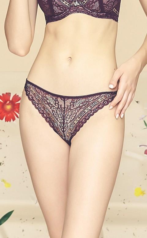 迷霧森林 高包覆中腰三角內褲 M-XL Anymore - 紫棕