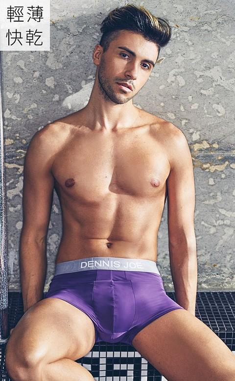 奈米纖維 貼身四角男內褲 M-3XL Dennis Joe - 紫色