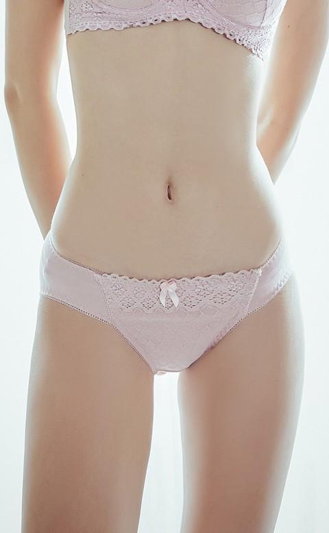 催情摩洛哥 蕾絲包覆低腰內褲 M-XL Anymore - 粉色