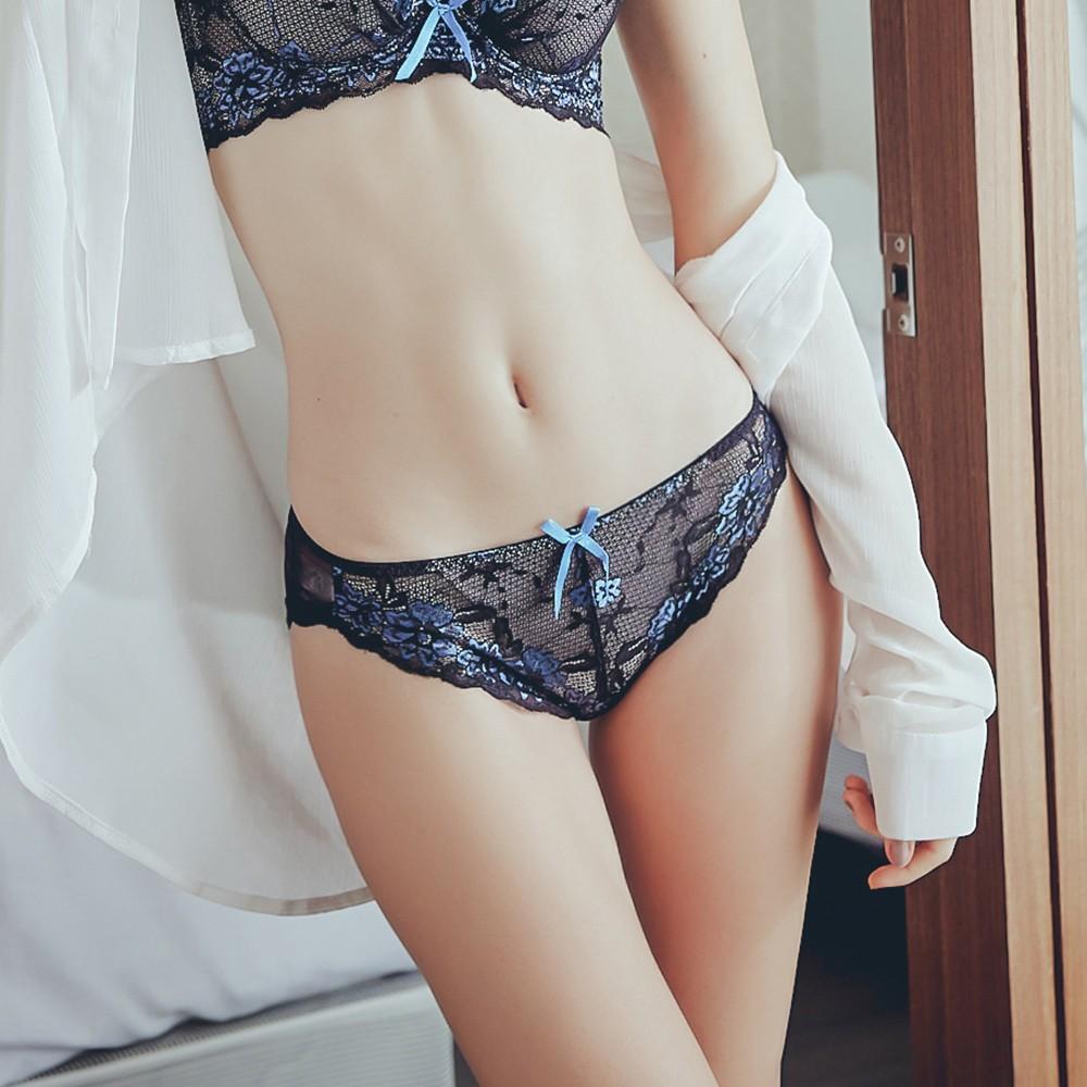 漫步仙境 透膚蕾絲彈性內褲 M-XL Anymore,內褲,三角,蕾絲,包覆,網紗