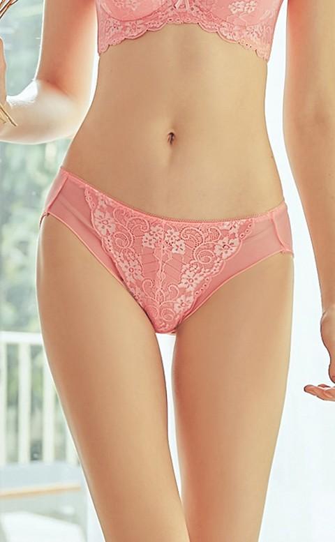 迷人晶鑽 黃金翹臀比例內褲 M-XL Anymore - 粉橘