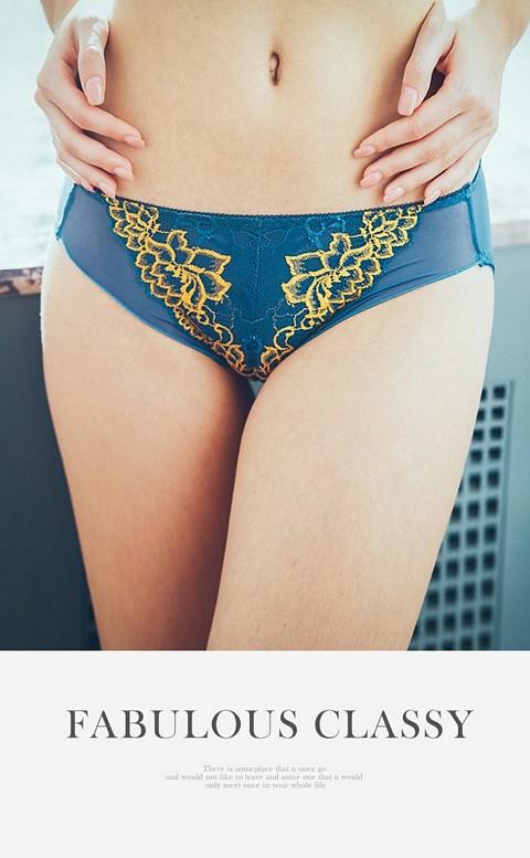 高貴姿態 提托翹挺美臀低腰內褲 M-XL Anymore - 藍色