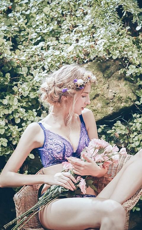 花語書籤 水滴型軟鋼圈內衣 B-D Anymore - 藍紫