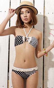 時尚教主 超顯瘦二件式比基尼泳裝 M-L AINIA - 黑色