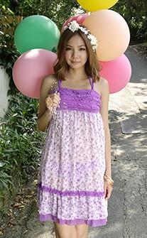 夢幻公主三件式比基尼泳衣/洋裝 M-L AINIA - 紫色