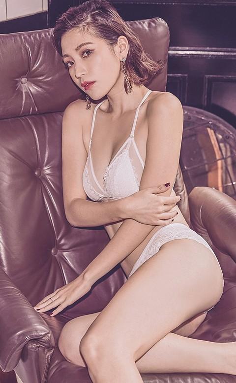 華麗焦點 美背蕾絲薄襯成套內衣褲 S-L anSubRosa - 白色