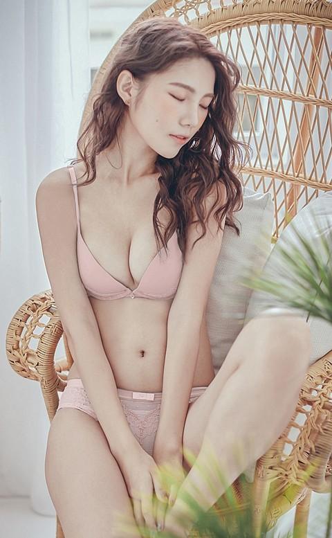 淺嚐櫻桃酒 美背W鋼圈內衣褲 A-C nalla - 粉色