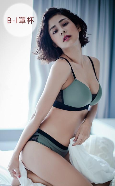 律動新旋律 蕾絲美背無痕無鋼圈內衣褲 B-I anSubRosa - 綠色