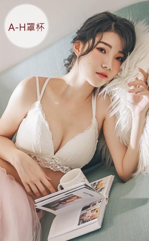 瑪莉戀愛中 美背蕾絲內衣褲 XS-3XL nalla - 白色