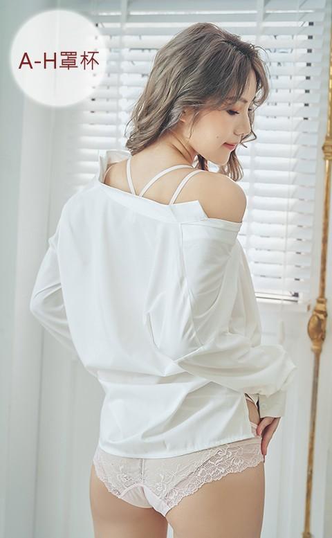瑪莉戀愛中 美背蕾絲內衣褲 XS-3XL nalla - 粉色