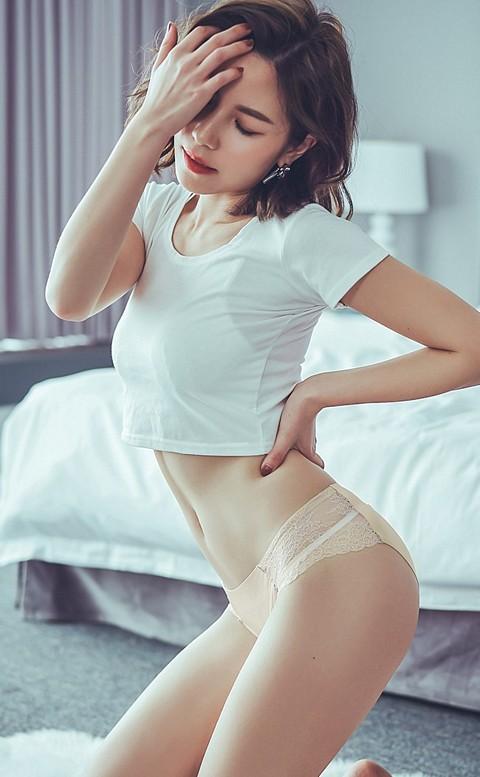 彩虹彼岸 蕾絲無痕內褲 M-L anSubRosa - 膚色