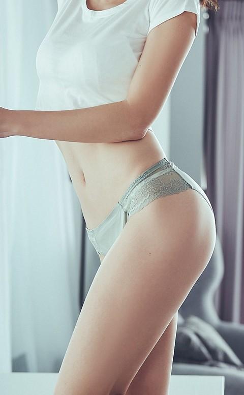 彩虹彼岸 蕾絲無痕內褲 M-L anSubRosa - 綠色
