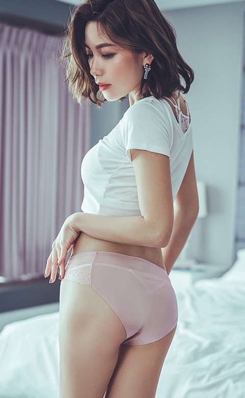 彩虹彼岸 蕾絲無痕內褲 M-L anSubRosa - 粉色