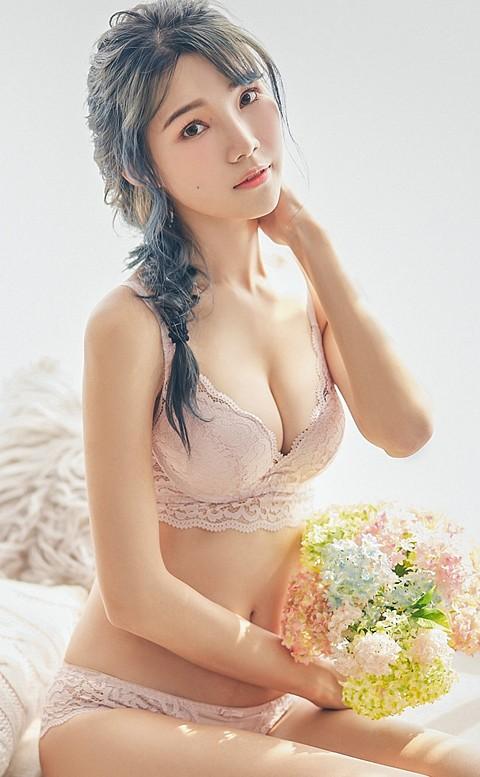 浪漫的口吻 蕾絲無鋼圈內衣褲  B-C nalla - 粉色