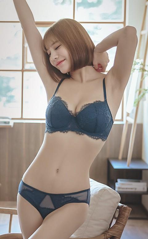 刺蝟的優雅 均薄杯J鋼圈內衣褲 A-E anSubRosa - 藍色