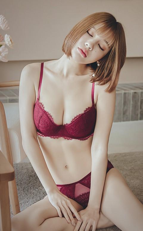 刺蝟的優雅 均薄杯J鋼圈內衣褲 A-E anSubRosa - 紅色