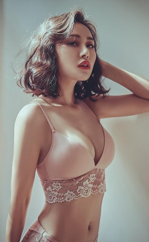 梅根之約 蕾絲薄襯無鋼圈內衣褲 A-C anSubRosa - 藕粉