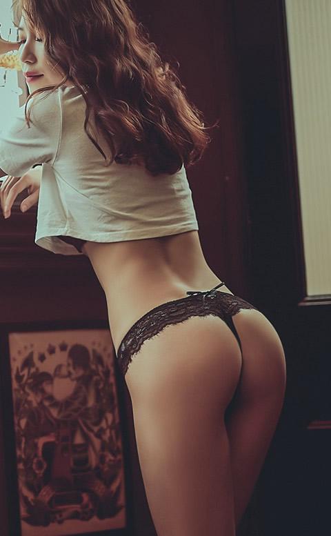 炙熱曲線 性感綁帶蕾絲丁字褲 S-XL anSubRosa - 黑色