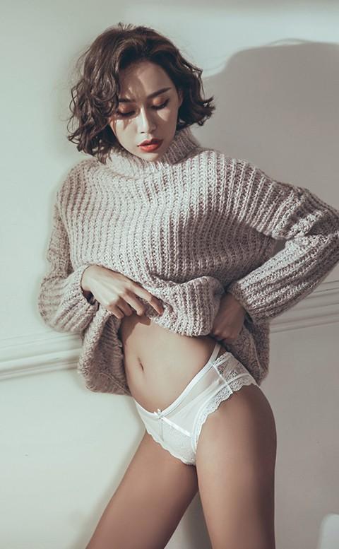 迷人誘惑 蕾絲蜜桃臀低腰內褲 S-XL anSubRosa - 白色