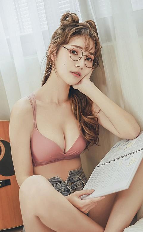 戀戀棉花糖 扭結美背無鋼圈內衣 A-B nalla - 粉色