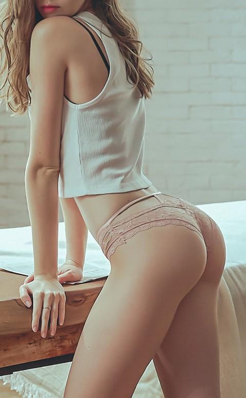迷情印記 性感蕾絲蜜桃低腰褲 M-L anSubRosa - 粉色