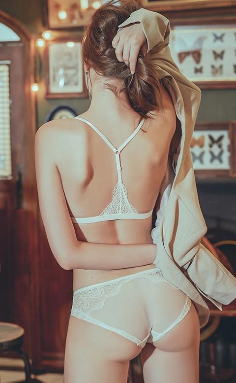 盛夏豔陽 前扣無襯成套內衣褲 S-XL anSubRosa - 白色