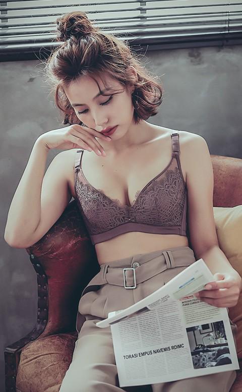 迷情細語 蕾絲網紗法式軟鋼圈內衣 A-C anSubRosa - 紅棕紫