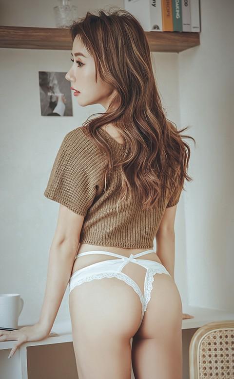 蜜桃陷阱 蕾絲挖空低腰丁字褲 M-L anSubRosa - 純淨白