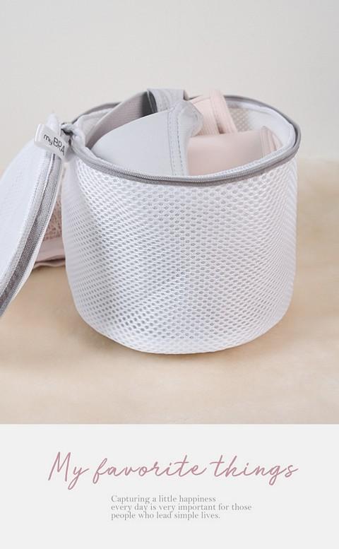 品牌LOGO內衣專用雙層加厚洗衣袋 - 灰色