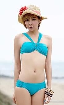 性感美背交叉多造型比基尼 M-XL AINIA - 綠色