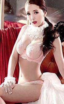 法系迷情 超亮眼蕾絲華麗無襯內衣褲 B-C anSubRosa - 粉色