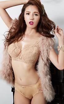 大碼女人 大尺碼大罩杯立即入手單件內衣 F-G anSubRosa - 膚色
