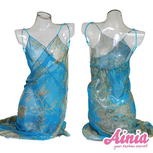 連身涼感輕盈雪紡罩衫 FREE AINIA,泳衣,泳衣罩衫,Ania,Alnla,