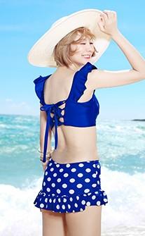 俏皮美背兩件式比基尼 M-XL AINIA - 深藍