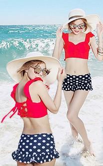 俏皮美背兩件式比基尼 M-XL AINIA - 紅色
