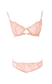 小壞壞 歐系J型鋼圈無襯質感刺繡蕾絲內衣褲 B-D anSubRosa - 粉色
