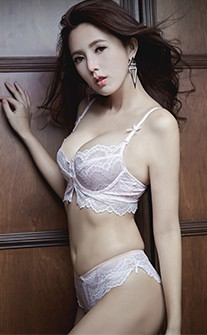 誘惑女香 性感無襯全蕾絲內衣褲 B-D anSubRosa - 白色