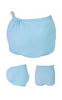 清新高雅 媽媽指定款可調式孕婦內褲 2XL myBRA - 藍色
