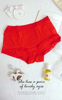 棉花夢田 彈力莫代爾低腰孕婦內褲 XL-2XL myBRA - 紅色