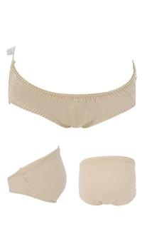 甜蜜生活 莫代爾棉可調式低腰孕婦內褲 FREE Leinear - 膚色