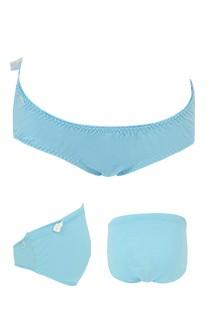 甜蜜生活 莫代爾棉可調式低腰孕婦內褲 FREE myBRA - 藍色