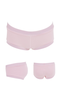 天生翹臀 天然莫代爾低腰平口孕婦內褲 FREE Leinear - 淺粉色