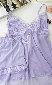 誘惑迷迭香 無襯透視魅力睡衣 FREE anSubRosa - 淺紫