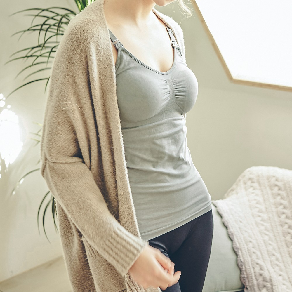 舒活媽咪 舒適無鋼圈肩開扣哺乳背心 M-4XL Leinear,無鋼圈,內衣,內衣推薦,哺乳內衣,哺乳上衣
