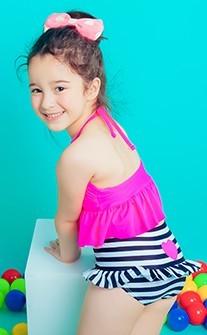 粉粉陽光 今夏最IN的水母衣兒童3件式 S-XL AINIA - 桃紅