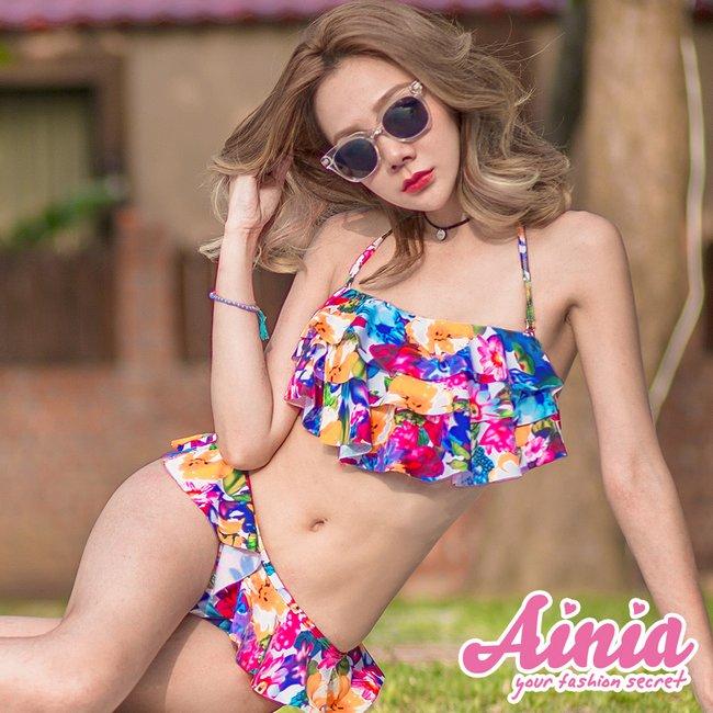 【首購免運費】森巴奢華 舞出迷人熱情兩件式泳衣 M-XL AINIA