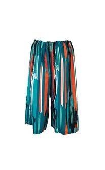 絢麗出遊 潑墨盛夏印花男生寬版泳褲 M-2XL AINIA - 彩虹條紋