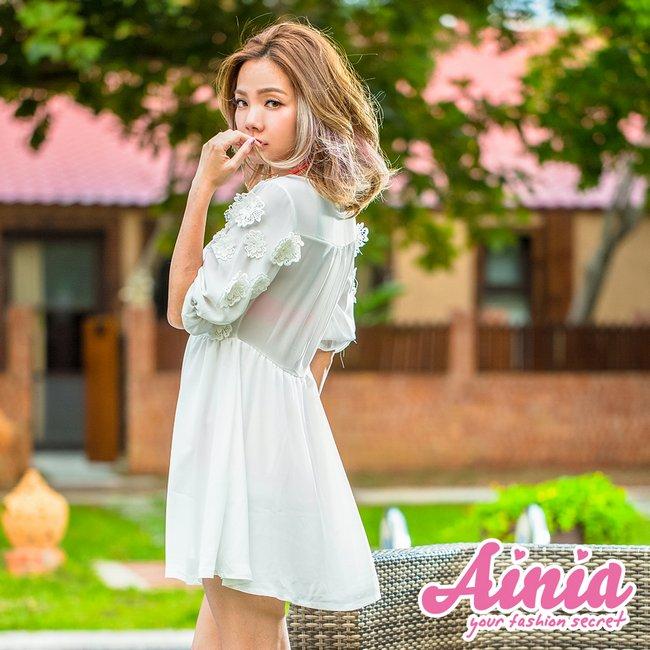 雪紡迷情 深V透膚美腰罩衫 S-M AINIA,泳衣,泳衣罩衫,Ania,Alnla,