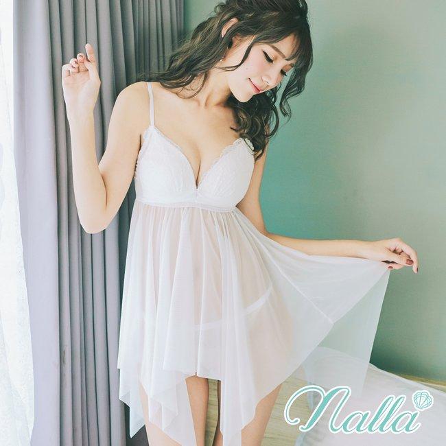 性感環抱 包覆式罩杯雪紡睡衣 S-2XL nalla,睡衣,連身睡衣,睡衣內衣推薦,睡衣派對,性感
